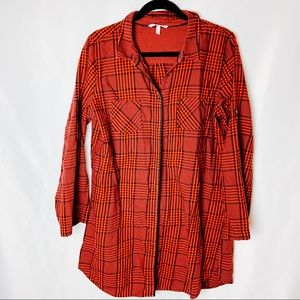 Victoria's Secret Flannel Sleep Shirt Pajamas